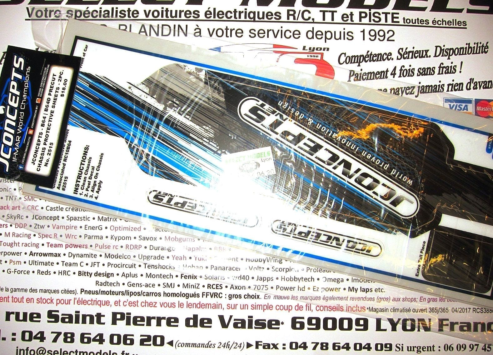Protection Châssis B64/b64d JConcepts