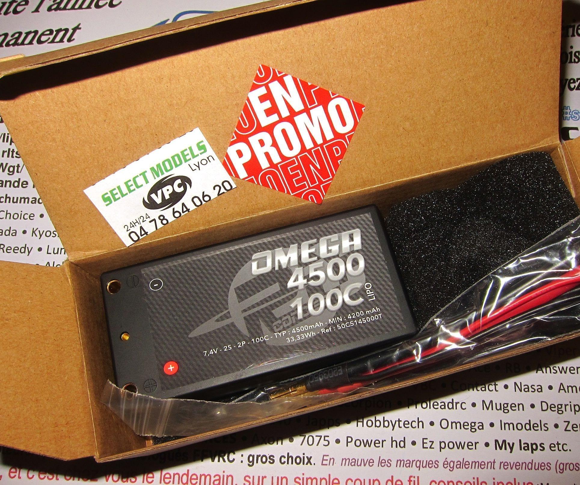 Promo Omega Rc concept Lipo 4500 shorty 100C