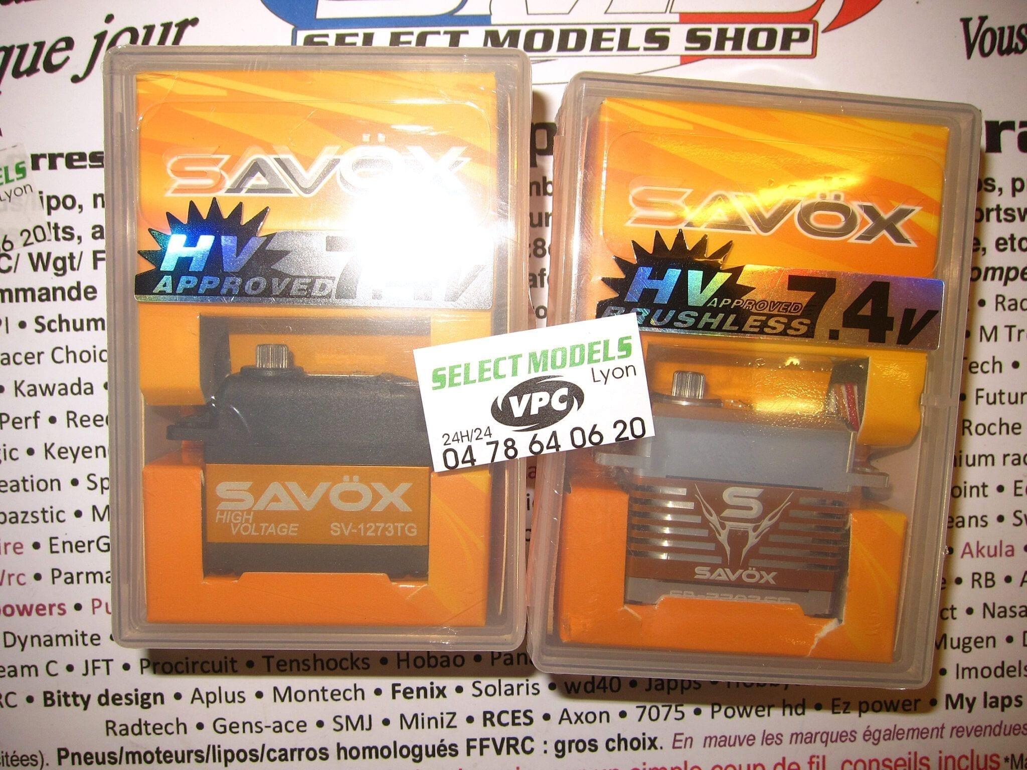 2 Servos Savox digitaux 7.4V
