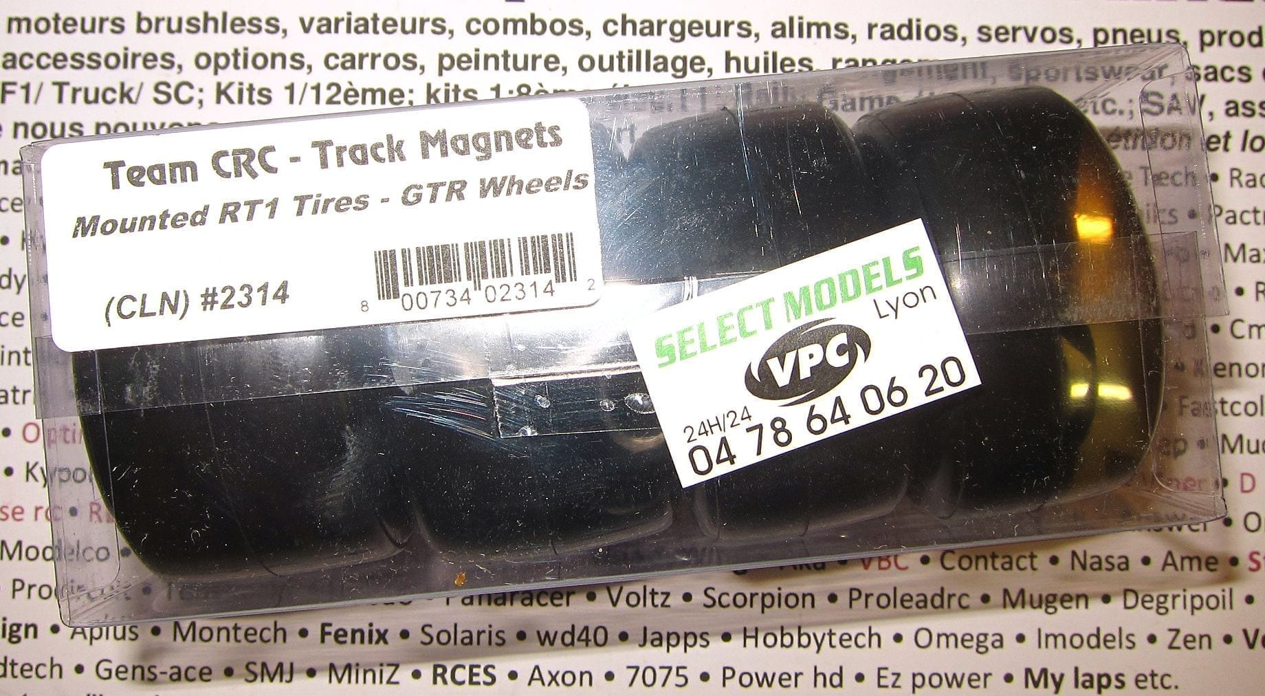 Pneus CRC pancar 200/235mm caoutchouc rt1!
