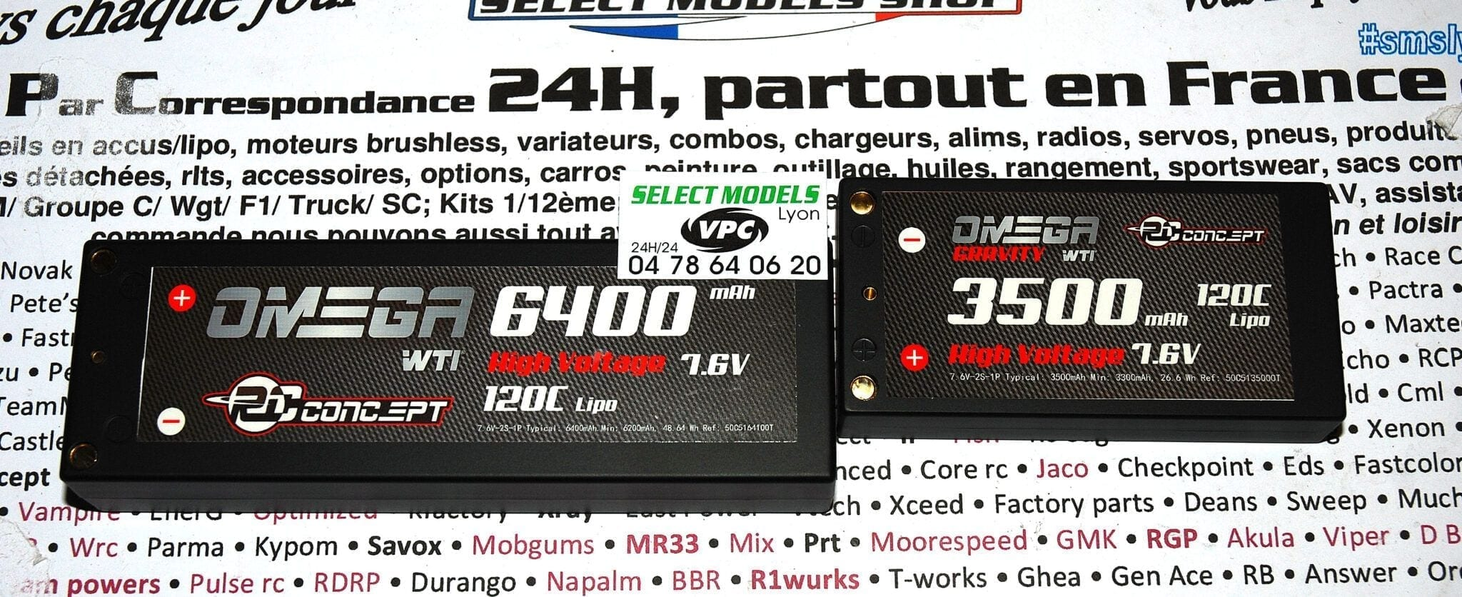 Lipo HV 7.6v 120c rc concept en 3500 shorty lcg et 6400mAh