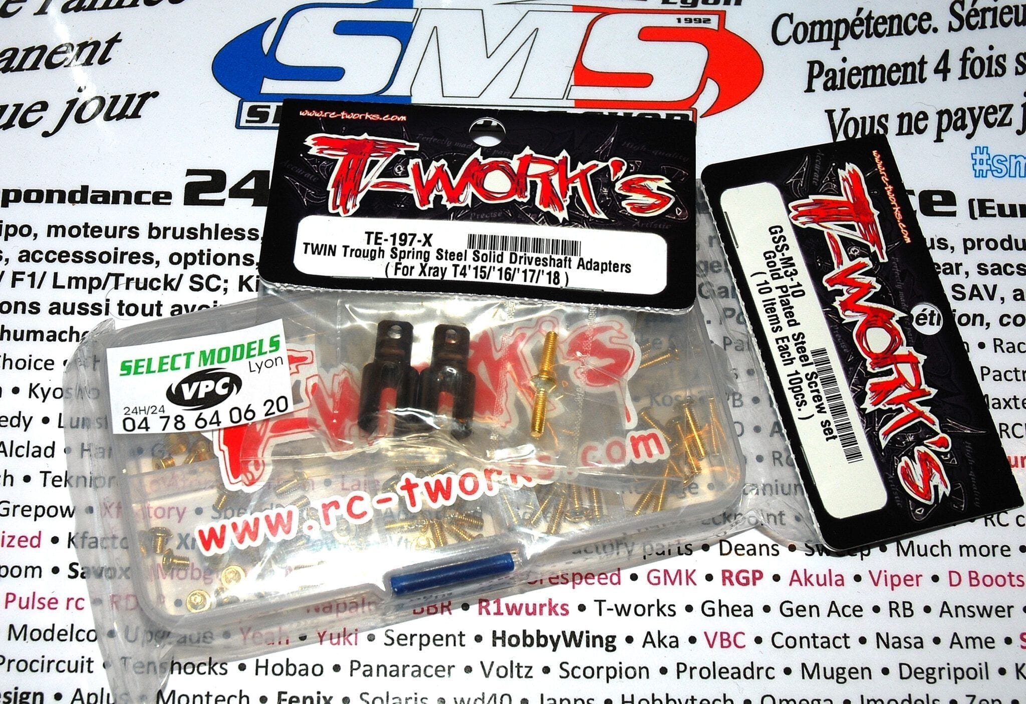 Noix de spool Xray T4 T-work's double slot et kit vis