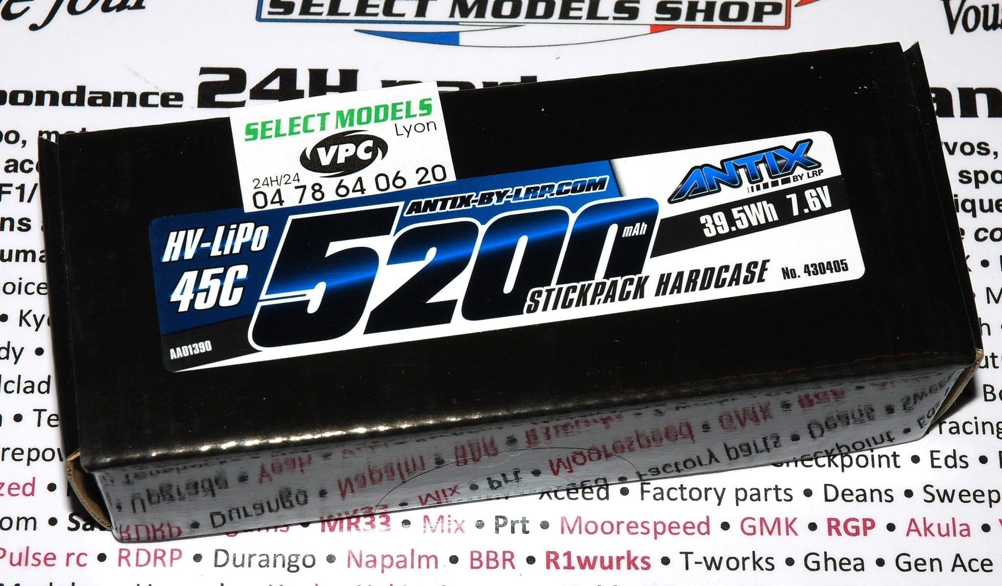 Pack stick lipo loisir Antix 5200 45c 7.6v hv
