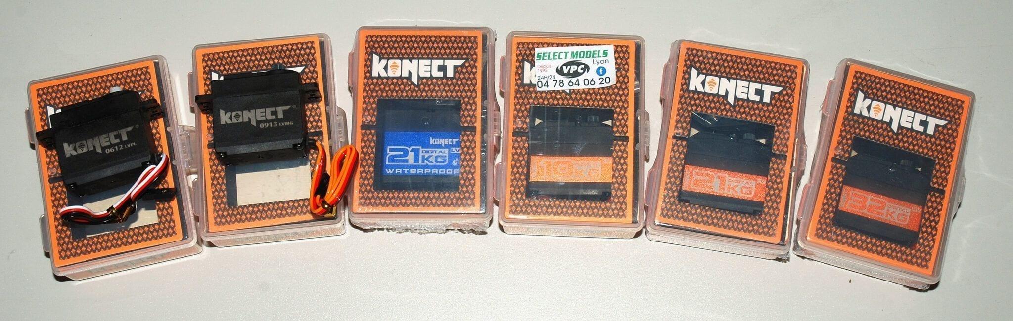 Toute la gamme des servos Konect