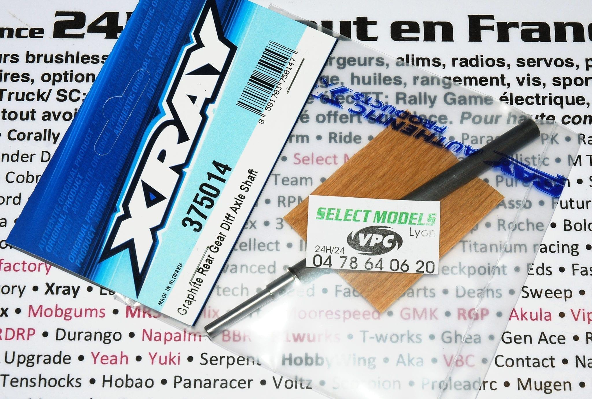 Axe carbone Xray pour diff à pignons pan car 375014