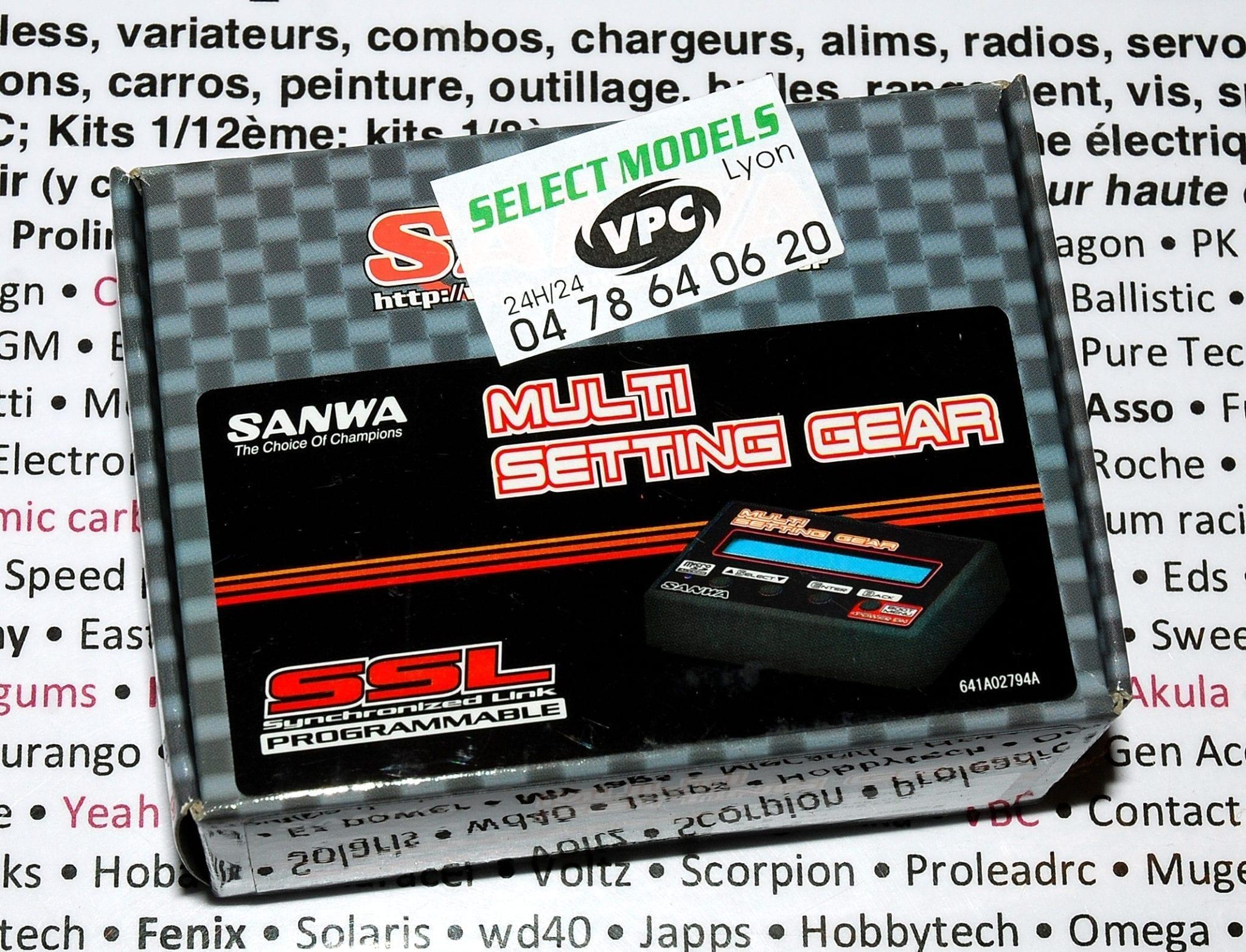 Programmateur Sanwa, multi setting gear