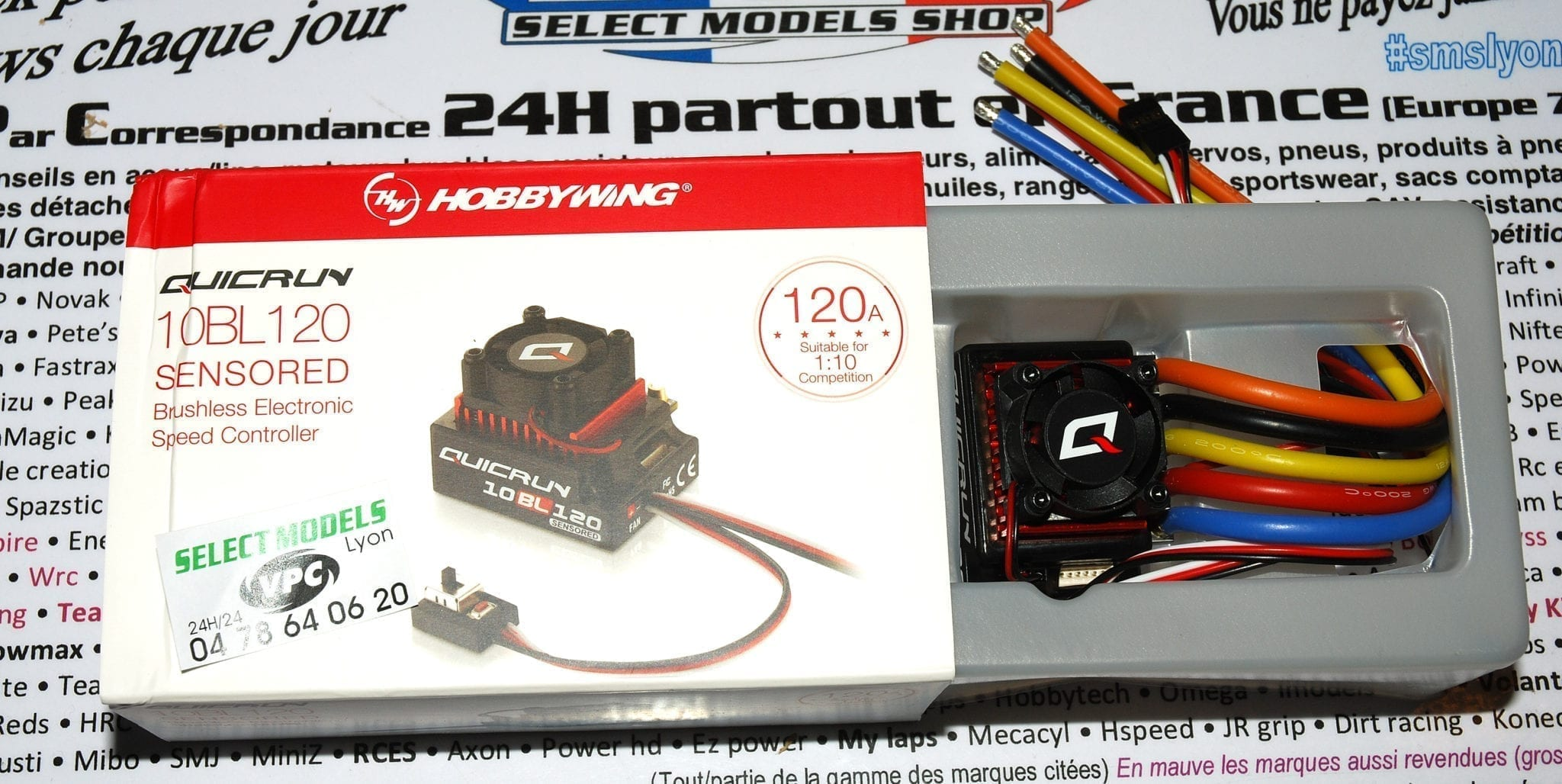 Quicrun 1/10 120A sensored Hobbywing
