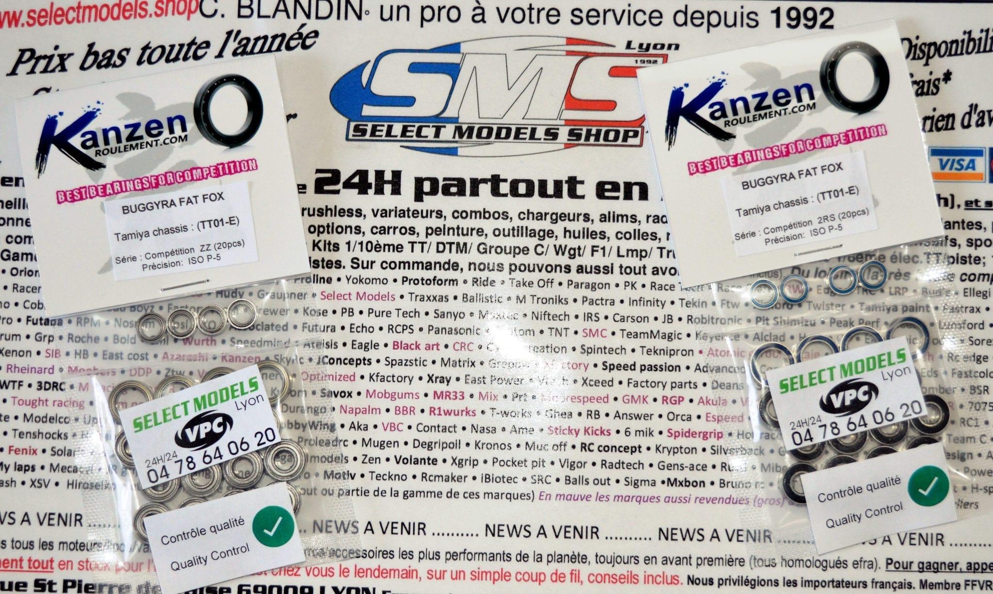 Kits roulements Kanzen pour truck type tt01-E